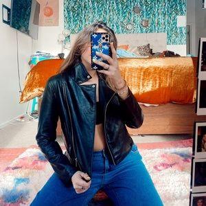 Black (fake) leather jacket
